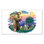 St Francis #2 / Keeshond Sticker (Rectangle)