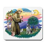 St Francis #2 / Keeshond Mousepad