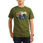 St Francis #2 / Keeshond Organic Men's T-Shirt (da