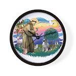 St Francis #2 / Keeshond Wall Clock