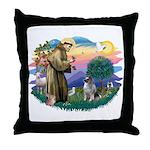 St Francis #2 / Keeshond Throw Pillow