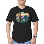 St Francis #2 / Keeshond Men's Fitted T-Shirt (dar