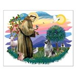 St Francis #2 / Keeshond Small Poster