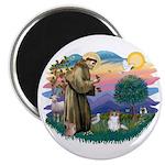 St. Francis #2 / Papillon (sw) Magnet