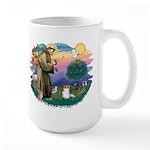 St. Francis #2 / Papillon (sw) Large Mug