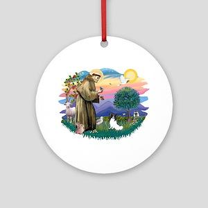 St. Francis #2 / Papillon Ornament (Round)