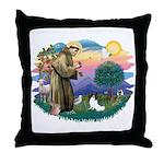 St. Francis #2 / Papillon Throw Pillow