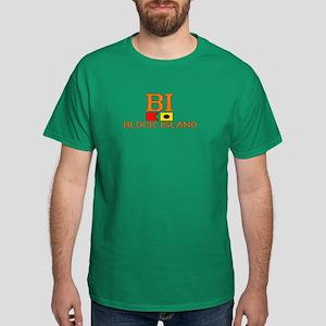 Block Island RI - Nautical Design Dark T-Shirt