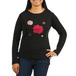 Flower Silhouette Women's Long Sleeve Dark T-Shirt