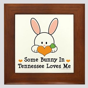 Some Bunny In Tennessee Loves Me Framed Tile