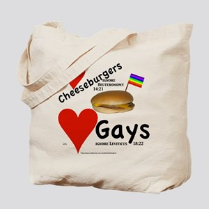 Gay Cheeseburgers Tote Bag