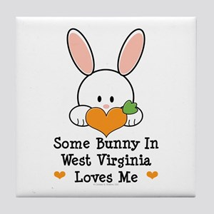 Some Bunny In West Virginia Tile Coaster