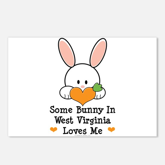 Some Bunny In West Virginia Postcards (Package of