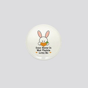 Some Bunny In West Virginia Mini Button