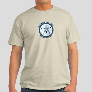 Block Island RI - Sand Dollar Design Light T-Shirt