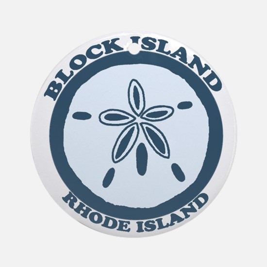 Block Island RI - Sand Dollar Design Ornament (Rou