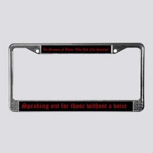 Domestic Violence License Plate Frame