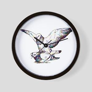 Pigeon Love Wall Clock