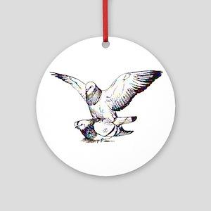 Pigeon Love Ornament (Round)
