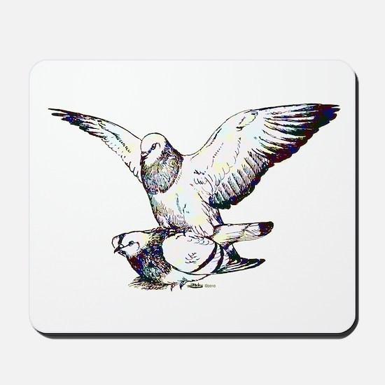 Pigeon Love Mousepad