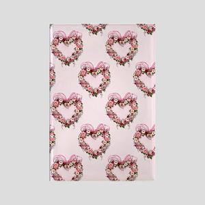 Floral Heart Rectangle Magnet