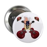 "TopHat Flaming Skull Rock n' 2.25"" Button (10"