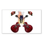 TopHat Flaming Skull Rock n' Sticker (Rectangle 50