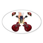 TopHat Flaming Skull Rock n' Sticker (Oval 10 pk)
