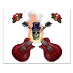 TopHat Flaming Skull Rock n' Small Poster