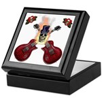 TopHat Flaming Skull Rock n' Keepsake Box