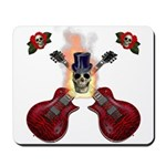 TopHat Flaming Skull Rock n' Mousepad