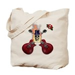 TopHat Flaming Skull Rock n' Tote Bag