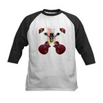TopHat Flaming Skull Rock n' Kids Baseball Jersey