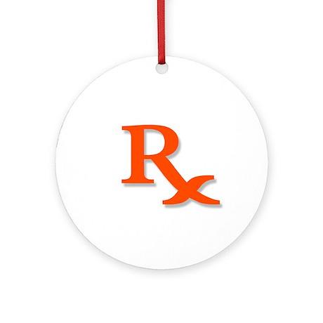 Pharmacy Rx Symbol Ornament (Round)