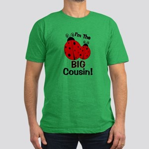 I'm The BIG Cousin! Ladybug Men's Fitted T-Shirt (