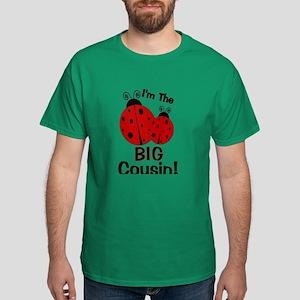 I'm The BIG Cousin! Ladybug Dark T-Shirt