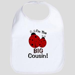 I'm The BIG Cousin! Ladybug Bib