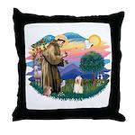 St Francis #2/ Havanese #1 Throw Pillow