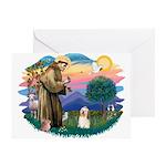 St Francis #2/ Havanese #1 Greeting Card