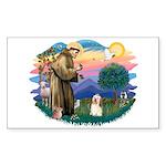 St Francis #2/ Havanese #1 Sticker (Rectangle 10 p