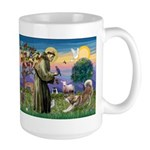 St Francis #2 / Red Husky Large Mug