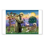 St Francis #2 / Red Husky Sticker (Rectangle)