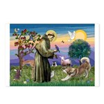 St Francis #2 / Red Husky Postcards (Package of 8)