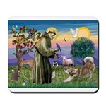 St Francis #2 / Red Husky Mousepad