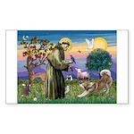 St Francis #2 / Red Husky Sticker (Rectangle 10 pk