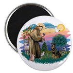 St Francis #2 / Rottweiler Magnet