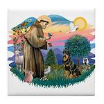 St Francis #2 / Rottweiler Tile Coaster
