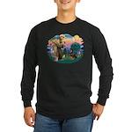 St Francis #2 / Rottweiler Long Sleeve Dark T-Shir