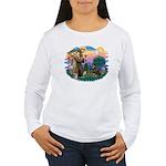 St Francis #2 / Rottweiler Women's Long Sleeve T-S