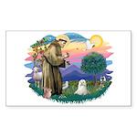 St Francis #2 / Maltese (C) Sticker (Rectangle)